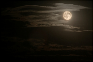 night sky and full moon